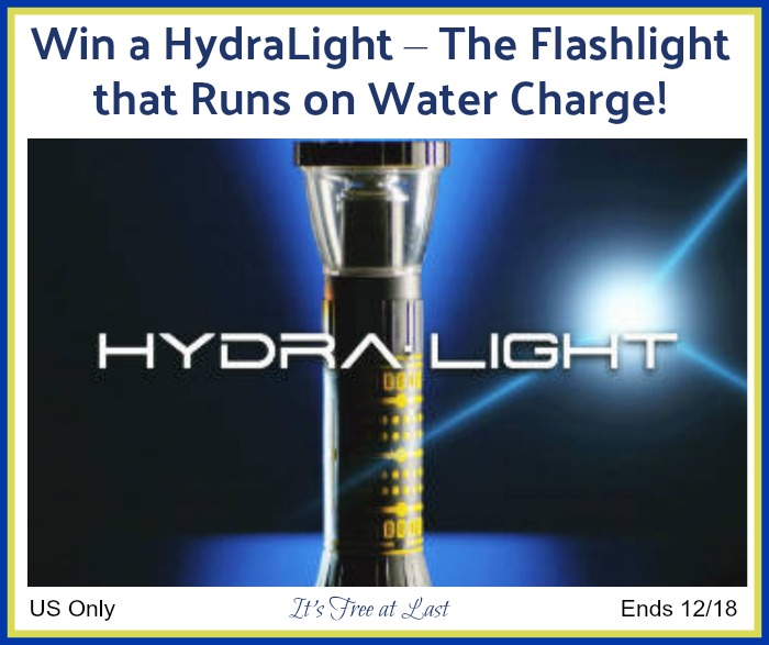 Win a Hydralight Flashlight that Runs on Water!