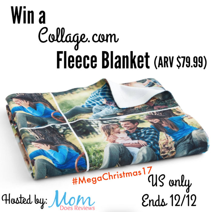 Collage.com fleece blanket