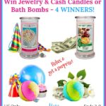 Win a Jewelry Candle, Cash Money Candle, Cash Bath Bomb, or a Jewelry Bath Bomb in your choice of scent!