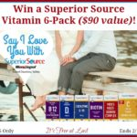 Win a Superior Source Vitamin 6-Pack ($90 value)! #SuperiorSource