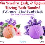 #Win Jewelry, Cash, & Regular Fizzing Bath Bombs – 5 Winners!!
