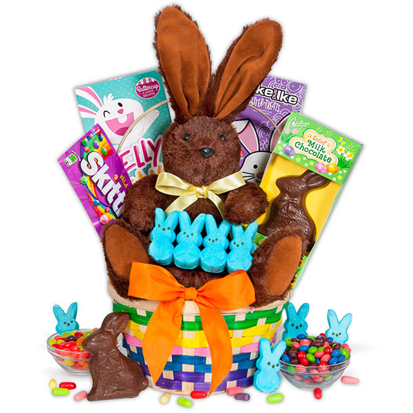 Get your easter basket delivered to your door with this classic basket brings together all of the classic elements needed to create the perfect holiday gift complete with bright sweet candies and chocolates negle Choice Image