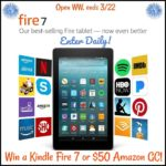 Enter Here to #Win a Kindle Fire HD 7 Tablet equipped with Alexa or $50 Amazon Gift Card