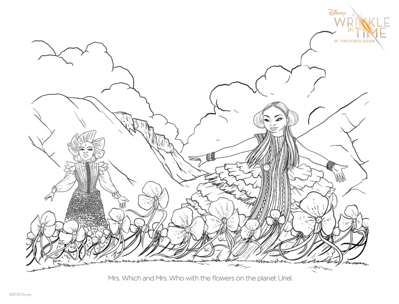 A Wrinkle In Time Coloring Pages Now Available