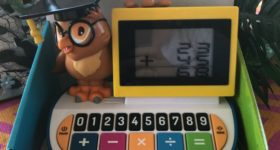 Help Little Ones Learn Basic Math Skills with Singing Machine Wise Ol' Owl Blackboard Calculator