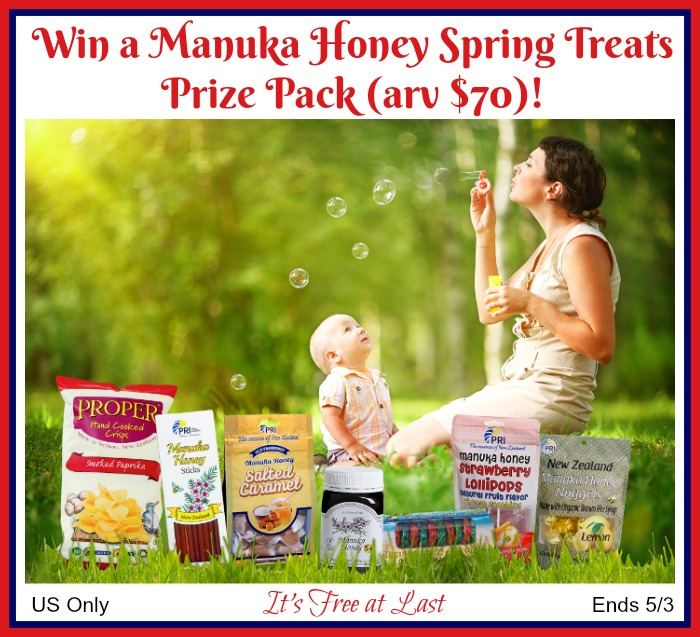Win a Manuka Honey Spring Treats Prize Pack (arv $70) #ManukaHealth #ShopPRI