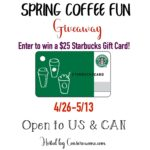 Spring Coffee Giveaway – Enter to #Win a $25 Starbucks Gift Card