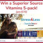 Win Superior Source Vitamins 5-pack ($70 value)! #SuperiorSource
