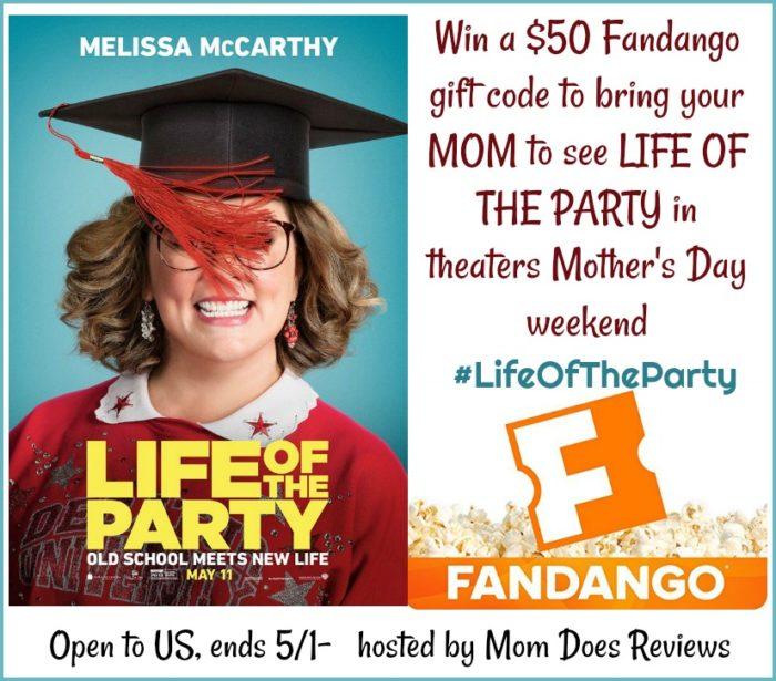 Life of the Party $50 Fandango GC