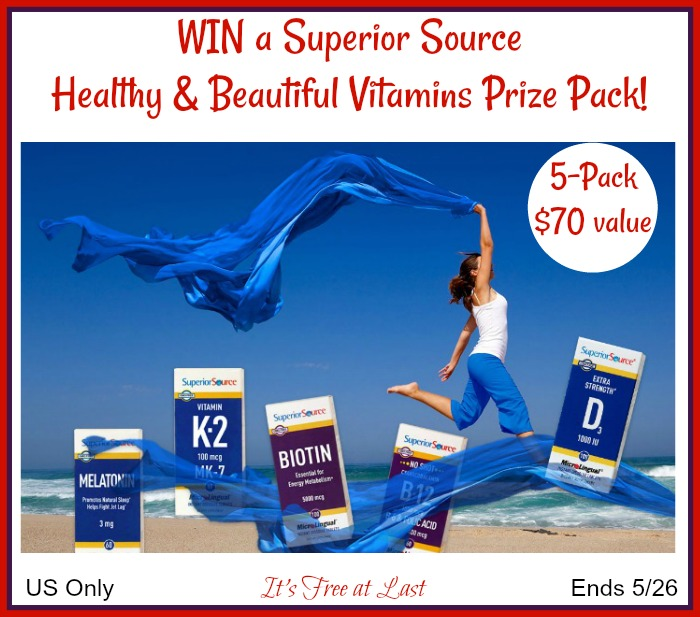 Win a Superior Source Healthy & Beautiful Vitamins Prize Pack ($70 value)! #SuperiorSource