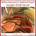 Cameron's Seafood Super Sampler ($100 Value) Giveaway!