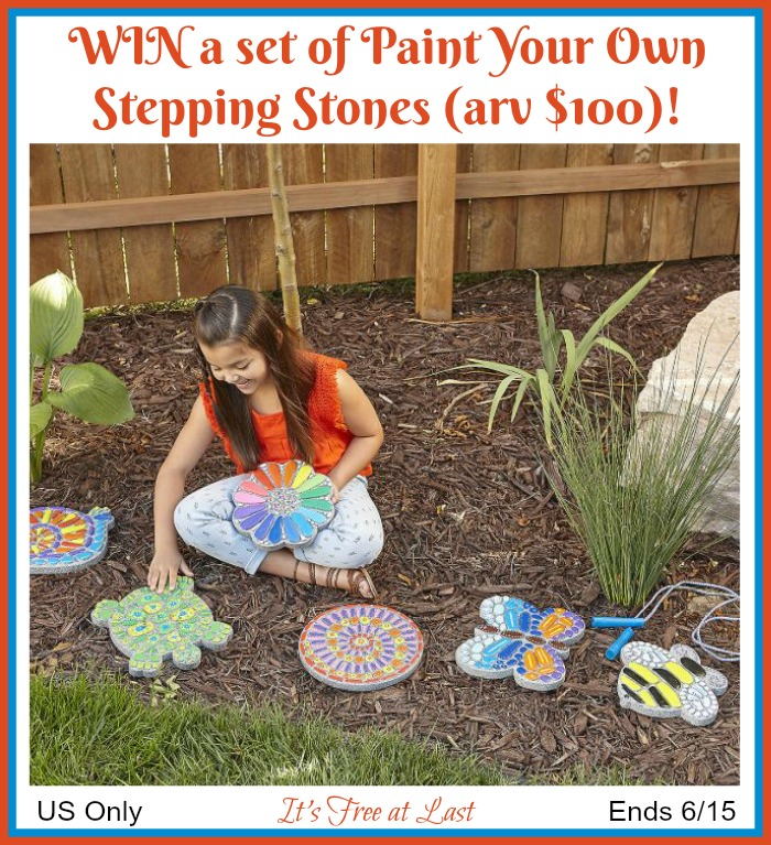 Paint Your Own Stepping Stones Giveaway button