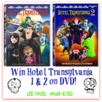 It's a Double Feature Hotel Transylvania DVD giveaway!