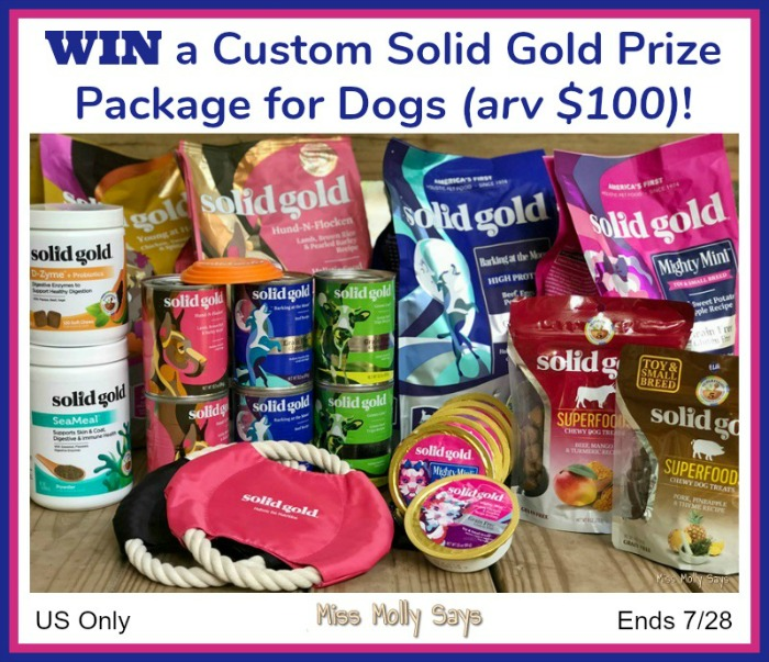 Custom Solid Gold Prize Package for Dogs (arv $100) Giveaway