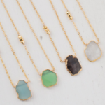Isabelle Grace Gem Slice Necklace Collection Perfect for Grad Gift