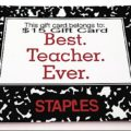 Best Teacher Ever Gift Card Giveaway