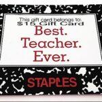 Best Teacher Ever Gift Card Giveaway