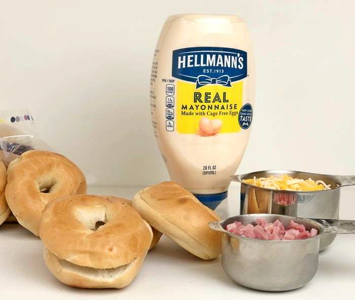 Ham & Cheese Bagels ingredients