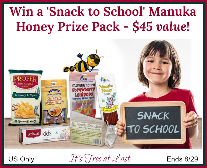 'Snack to School' Manuka Honey Prize Pack giveaway