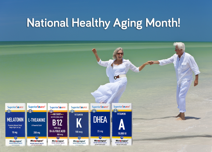 Celebrate National Healthy Aging Month with Superior Source Vitamins #SuperiorSource