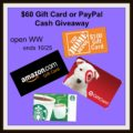 Enter to #Win a $60 Gift Card or Paypal Cash! Kickstart your Holiday!