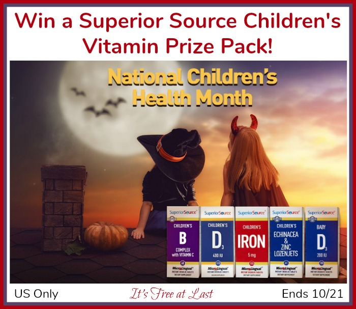 Superior Source Children's Vitamin Prize Pack Giveaway button