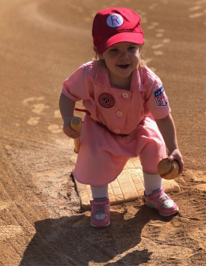 baseball costume rockford peach