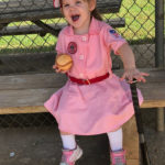 The Rockford Peach baseball costume from TV Store Online is a homerun