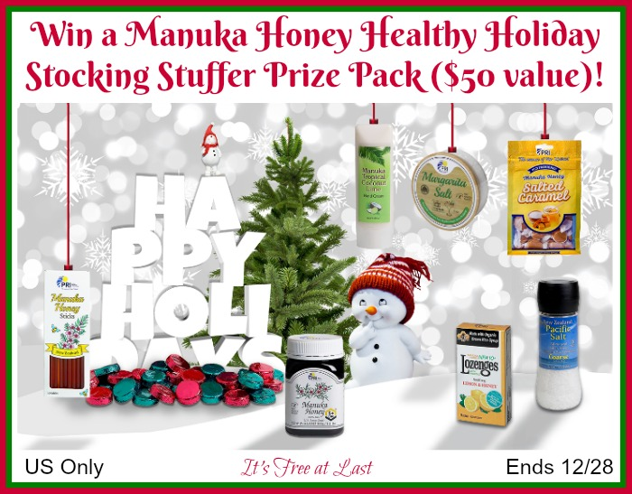 PRI Manuka Honey Health Holiday Prize Pack giveaway button