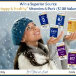 """Win a Superior Source """"Happy & Healthy"""" Vitamins 6-Pack ($100 Value)! #SuperiorSource"""