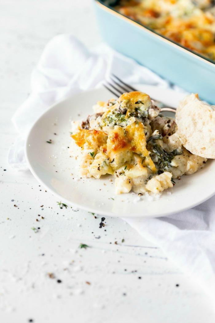 Three Cheese Pesto Chicken Pasta Bake Recipe
