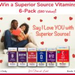 """The Perfect Gift to Say """"I Love YOU""""! Win a Superior Source Vitamins 6-Pack ($80 Value)! #SuperiorSource"""