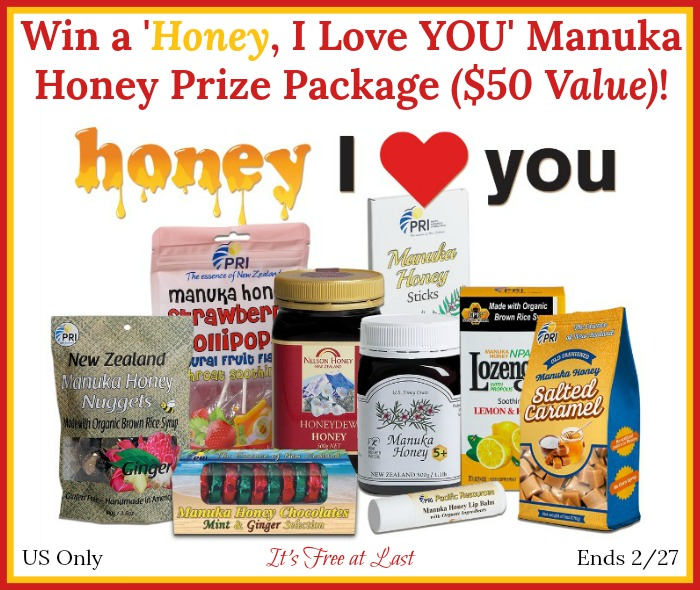 Win a 'Honey, I Love YOU' Manuka Honey Prize Package ($50 Value)! #ManukaHealth #ShopPRI