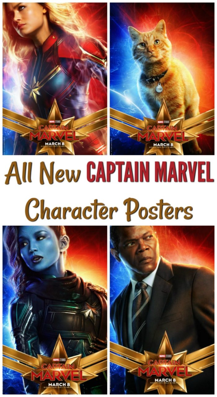 New Character Posters and Preview of Marvel's #CaptainMarvel - In Theaters March 8