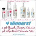 4 Winners! 2 get Elissah Skincare Sets & 2 get Alfie Rabbit Skincare Sets!