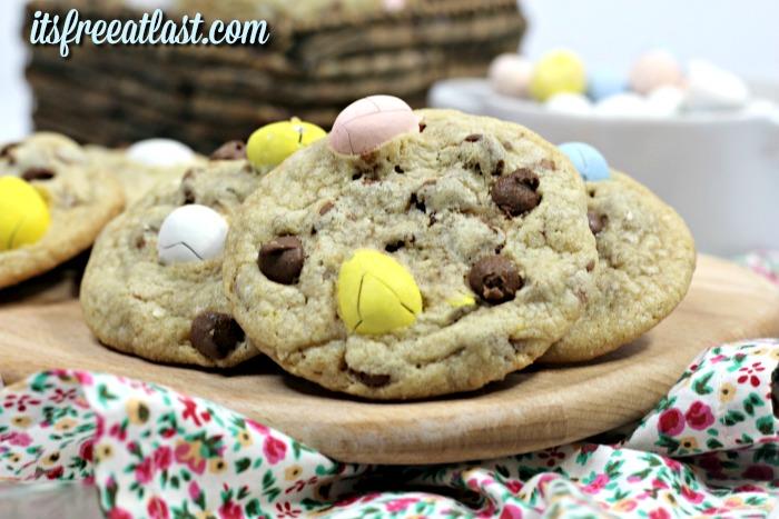 Malt Easter Egg Cookies