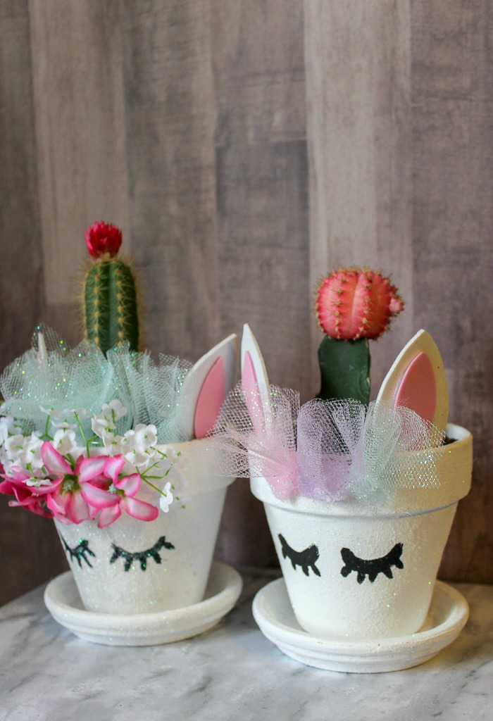 Unicorn Planter with a Cactus Horn