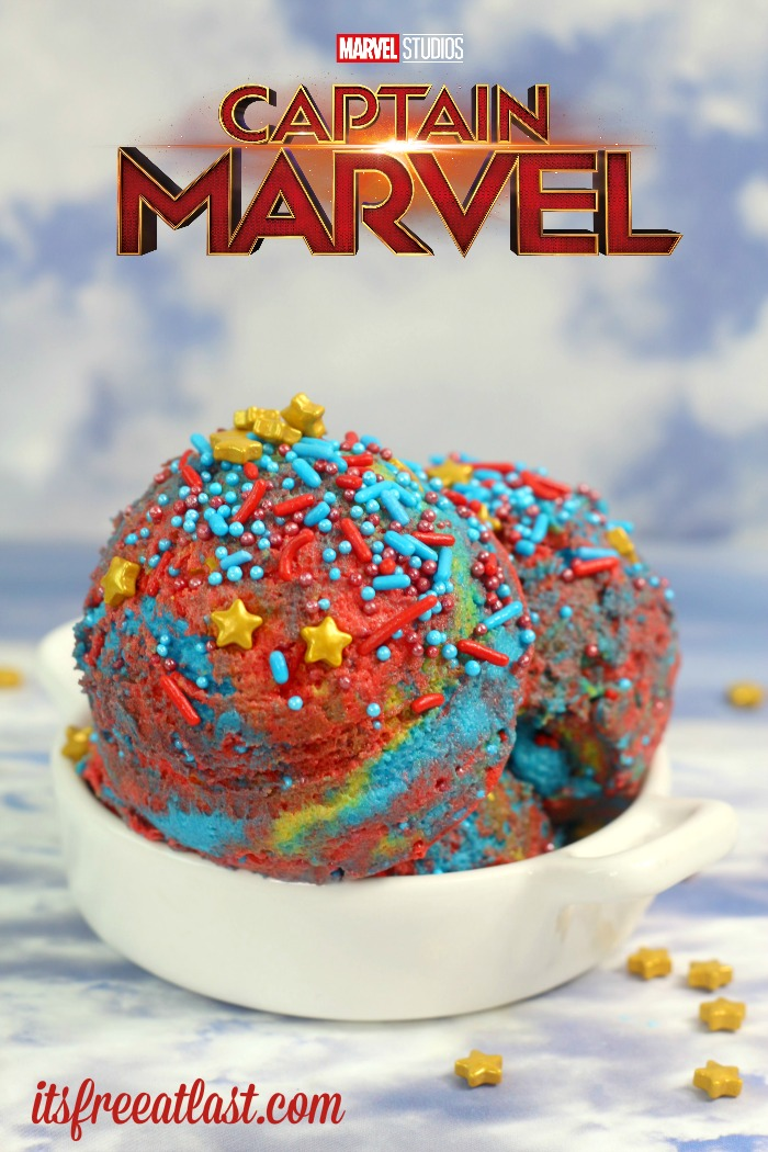 Captain Marvel Cookie Dough #CaptainMarvel #desserts #Sweets