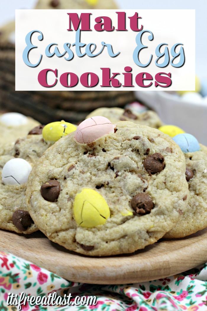 Malt easter egg cookies #desserts #easter #cookies