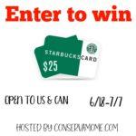win $25 Starbucks gc